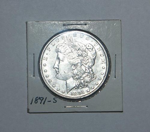 Excellent condition 1891-S Morgan Silver Dollar