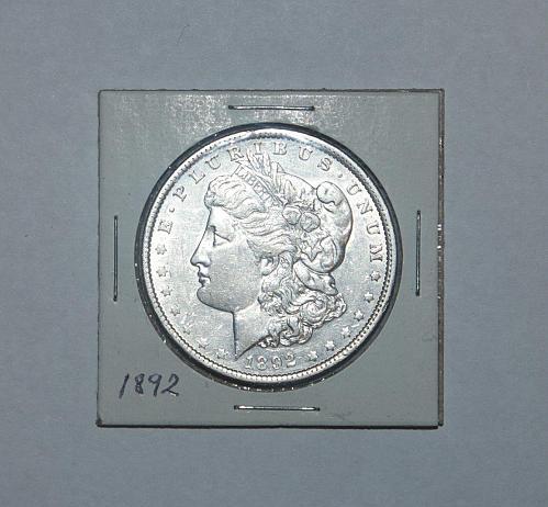 Excellent 1892 Morgan Silver Dollar