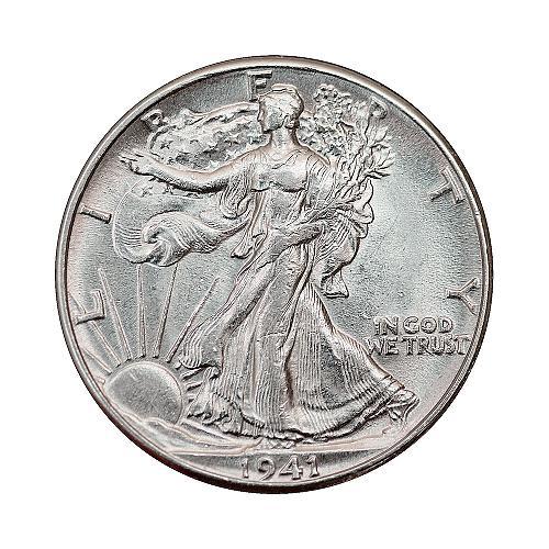1941 P Walking Liberty Half Dollar - Gem BU / MS / UNC
