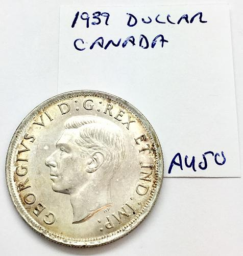 1939 One Dollar - Canada - Cleaned