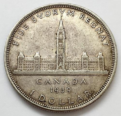 1939 One Dollar - Canada