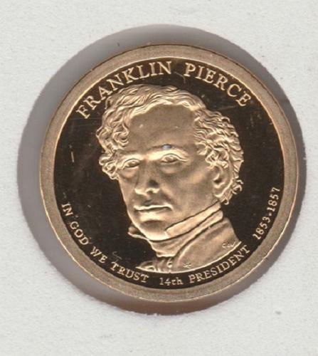 2010 S Presidential Dollars: Franklin Pierce- #2