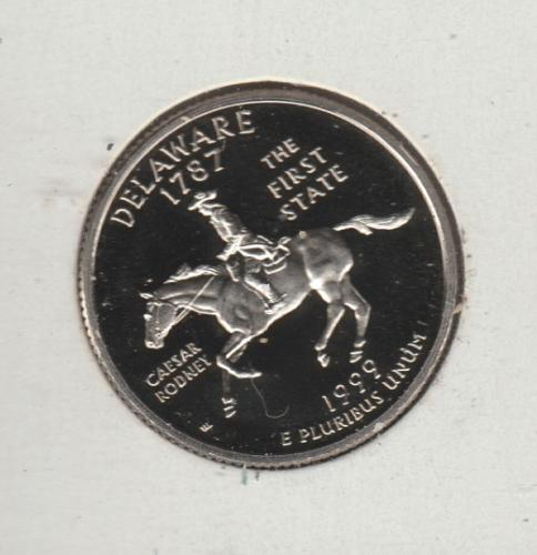 1999 S Delaware 50 States and Territories Quarters - #2