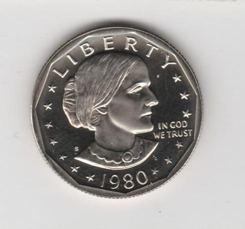 1980 S Susan B Anthony Dollars: Proof - #2