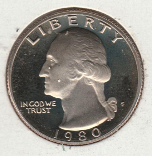 1980 S Washington Quarters - #2
