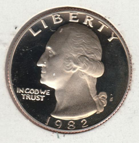 1982 S Washington Quarters - #2