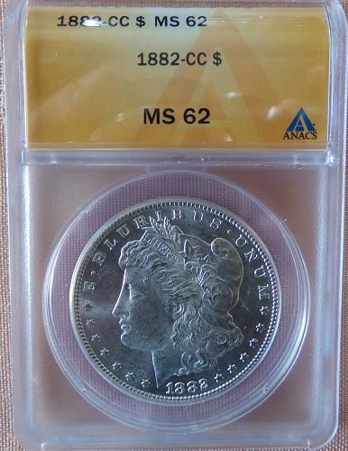 1882 CC ANACS MS 62