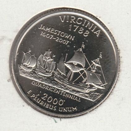2000 S Proopf Virginia 50 States and Territories Quarters - #3
