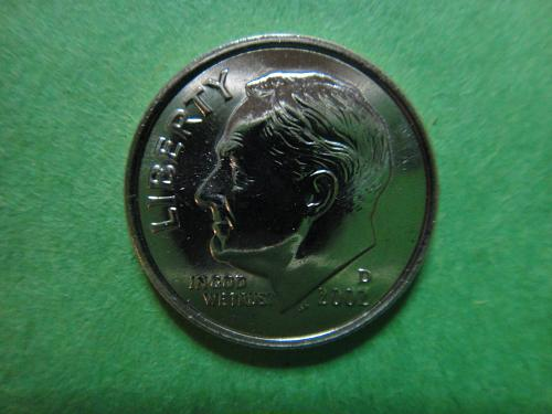 2002-D Roosevelt Dime MS-65 (GEM)