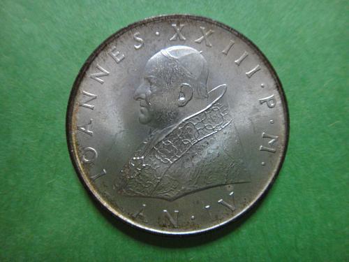 VATICAN CITY 500 Lire 1962 MS-65 (GEM) K#65.2 Last Year of Pope John XXIII