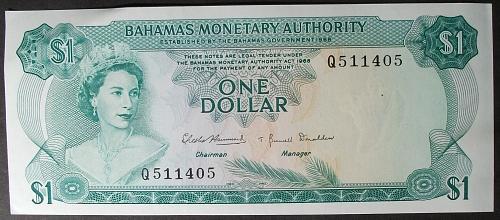 Bahamas P27a Dollar AU