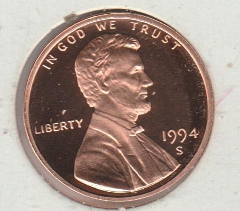 1994 S Lincoln Memorial Cent Small Cents - #2