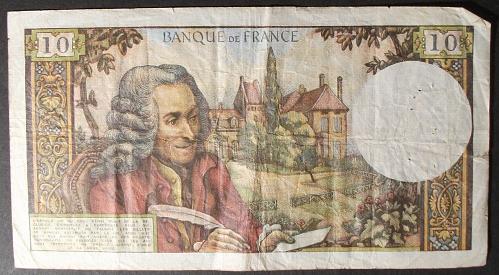 France P147b 10 Francs Fine