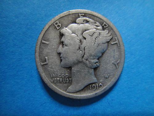 1919 Mercury Dime Fine-12