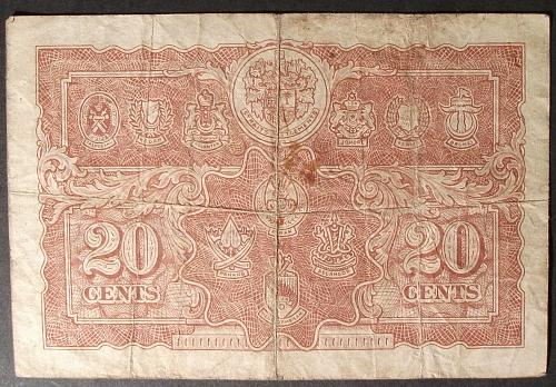 Malaya P9a 20 Cents Fine