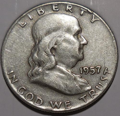 Franklin Half Dollar 1957-D