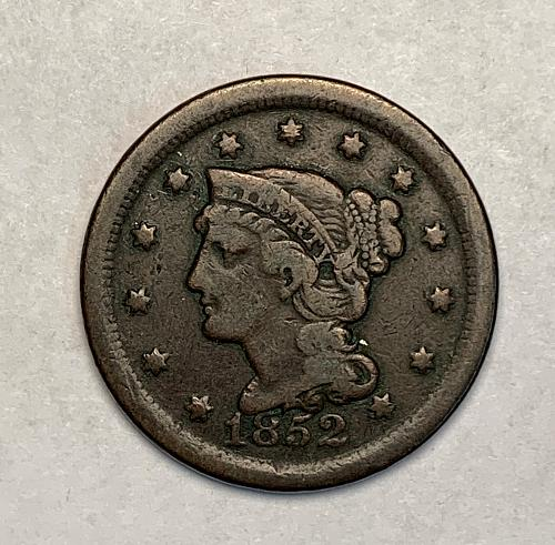 1852 Braided Hair Large Cent F [LGC 7]