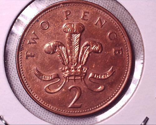 Vintage 2005 Great Britain Two Pence Coin
