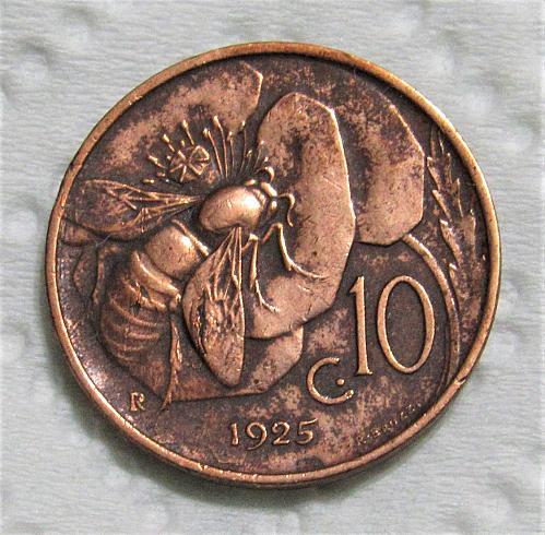 1925-R Italy 10 Centesimi