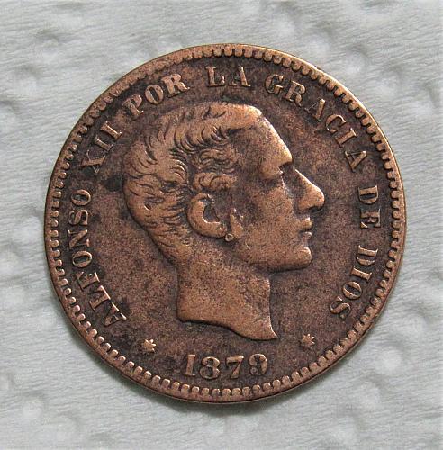 1879 Spain 5 Centimos