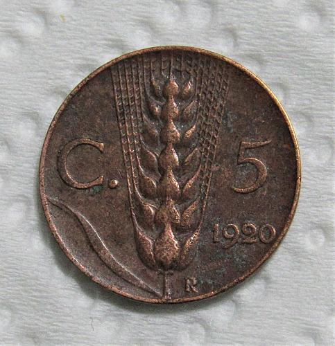1920-R Italy 5 Centesimi
