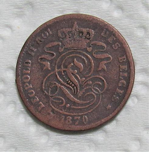 1870 Belgium 2 Cents