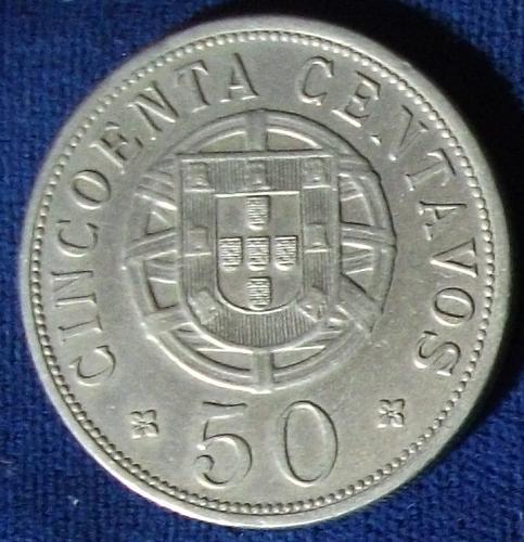 1928 Angola 50 Centavos XF
