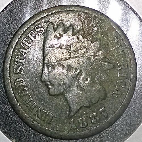 1887 P Indian Head Cent - 6 Photos!