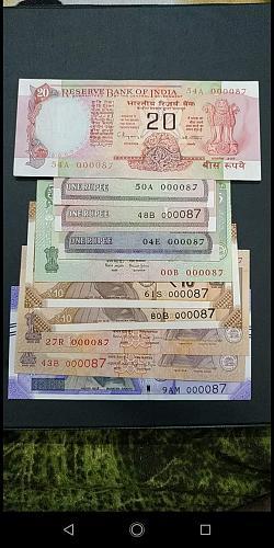 Very Rare...000087....India lot..UNC/AU