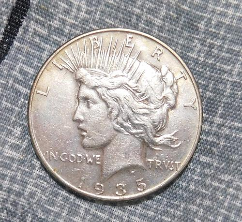 1935 P  Peace Silver Dollar, #2