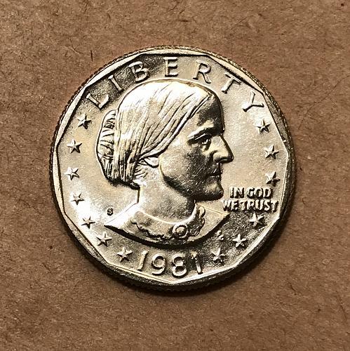 BU 1981 D Susan B. Anthony Dollar