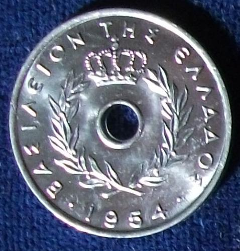 1954 Greece 5 Lepta BU