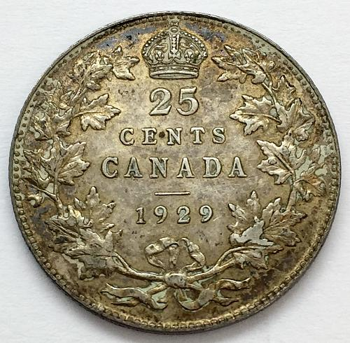 1929 25 Cents - Canada
