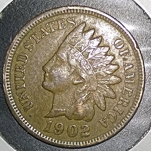 1902 P Indian Head Cent - 6 Photos!