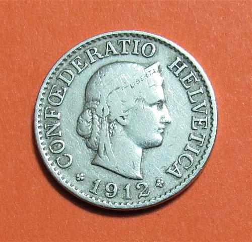1912-B Switzerland 10 Rappen