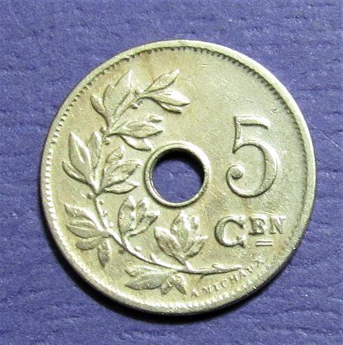 1906 Belgium 5 Centimes