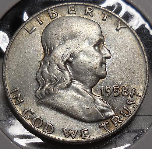 Franklin Half Dollar 1958-D