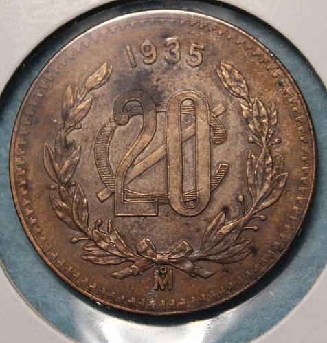 Mexico 1936 20 centavos