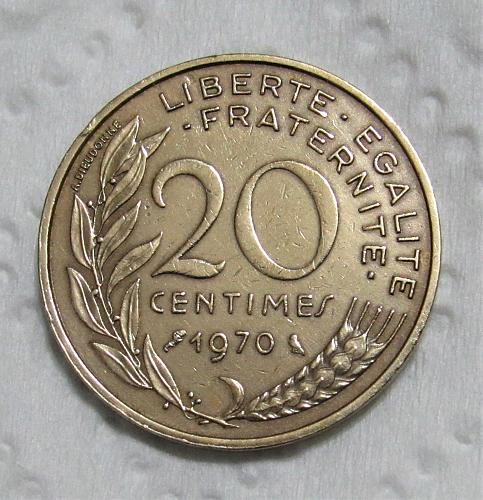 1970 France 20 Centimes