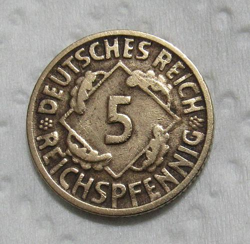 1925-D Germany 5 Pfennig