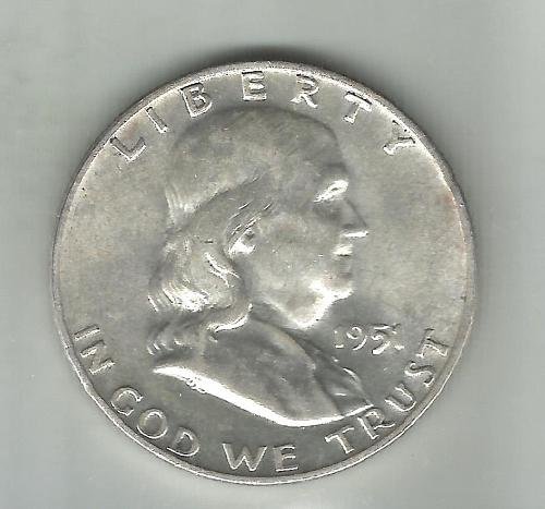 1951   D   FRANKLIN HALF DOLLAR