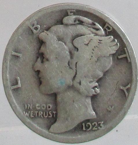 1923-P MERCURY DIME  #2