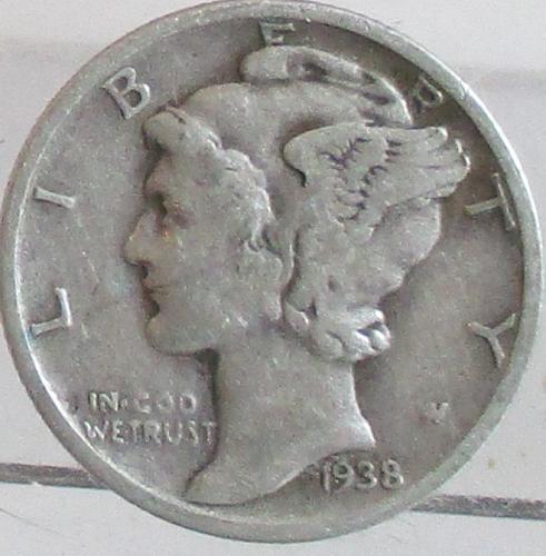 1938-S MERCURY DIME #1