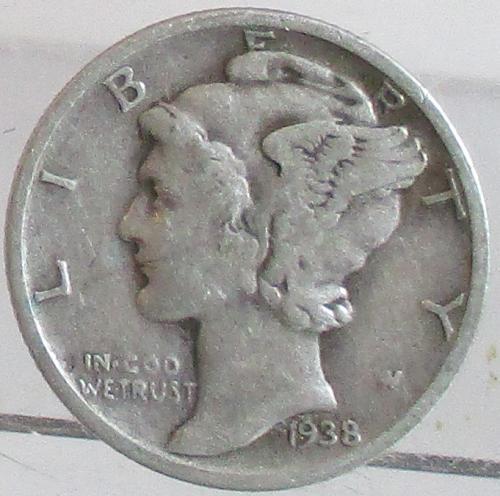 1938-S MERCURY DIME #2