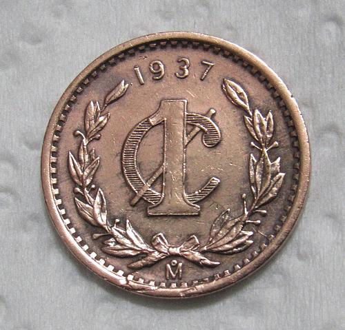 1937-M Mexico Centavo