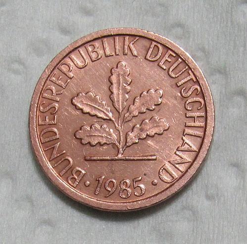 1985-F Germany Pfennig