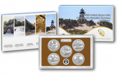 2018 US Mint America The Beautiful Quarters proof Set