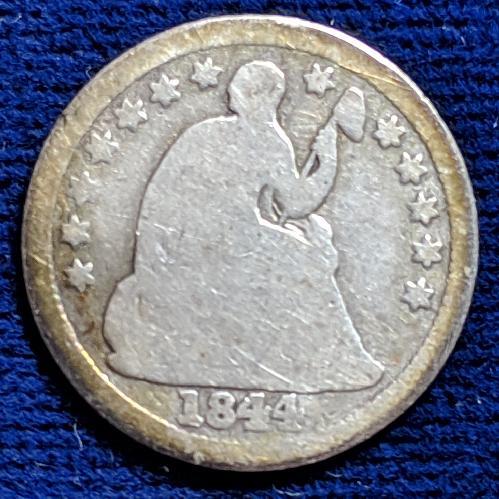 1844-0 AG/GOOD SEATED LIBERTY HALF DIME