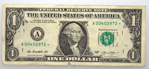 2013 $1 Federal Reserve Star Note#7 Circulated