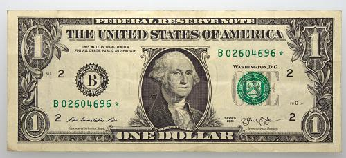 2013 $1 Federal Reserve Star Note#13 Circulated